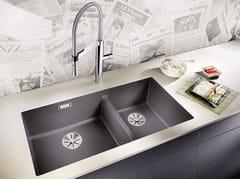 Lavello a 2 vasche da incasso in Silgranit® BLANCO SUBLINE 480/320-U - Blanco Subline