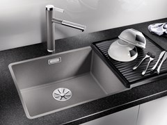Lavello a una vasca filo top in Silgranit® BLANCO SUBLINE 500 F - Blanco Subline