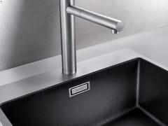 Lavello a una vasca da appoggio filo top in materiale compositoBLANCO SUBLINE 500-IF/A SteelFrame - BLANCO