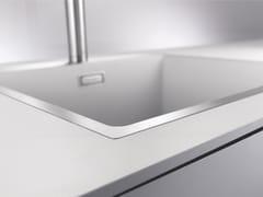 Lavello a una vasca da incasso in Silgranit®BLANCO SUBLINE 500-IF SteelFrame - BLANCO