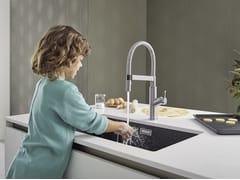 Lavello a una vasca da incasso in Silgranit®BLANCO SUBLINE 700 U - BLANCO