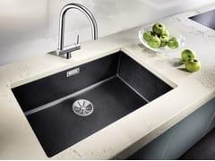 Lavello a una vasca da incasso in Silgranit® BLANCO SUBLINE 700 U - Blanco Subline