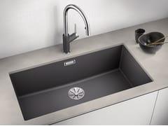 Lavello a una vasca da incasso sottotop in materiale composito in stile moderno BLANCO SUBLINE 800 U - Blanco Subline