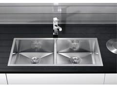 Lavello a 2 vasche da incasso in acciaio inoxBLANCO ZEROX 400/400-IF - BLANCO