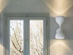 Lampada da parete a LED a luce diretta e indiretta in metallo verniciato BLOB A2 45 - Blob