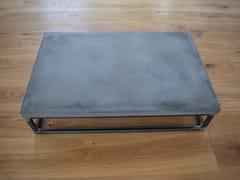 Tavolino da caffè rettangolare in calcestruzzoBLOCK - BETTON