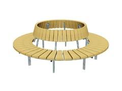 Panchina circolare in legno con schienaleBLOCK | Panchina circolare - EUROFORM K. WINKLER