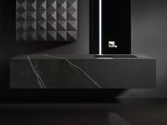 Mobile lavabo sospeso in Dekton® con cassettiBLOCK VANITY - BAUTEAM