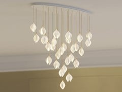 Lampada a sospensione a LED in porcellana BLOOM SMALL ELLIPSE 31 - HABERDASHERY