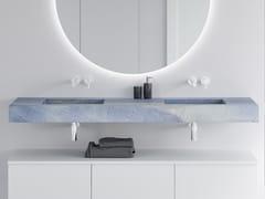 Lavabo doppio sospeso con piano BLUE MACAUBA C2 | Lavabo doppio -