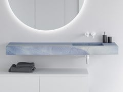 Lavabo singolo con piano BLUE MACAUBA C2 | Lavabo singolo -