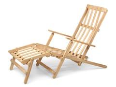 Sedia a sdraio reclinabile in teak con braccioliBM5565   Deck Chair with Footrest - CARL HANSEN & SØN MØBELFABRIK A/S