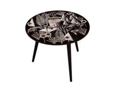 Tavolino di servizio basso in faggio e HPLBOCAGE BELETTE WENGE XL - BAZARTHERAPY