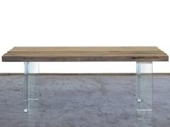 Tavolo da pranzo rettangolare in legno di recuperoBOITE - A&B ROSA DEI LEGNI BY ANTICA EDILIZIA