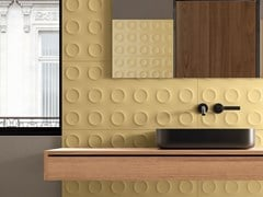Rivestimento tridimensionale in ceramica a pasta biancaBOLD SENAPE - CERAMICHE MARCA CORONA