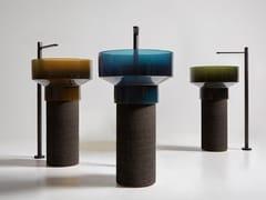 Lavabo freestanding rotondo in Cristalmood® e sugheroBOLGHERI - ANTONIO LUPI DESIGN®