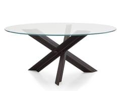 Tavolo da salotto rotondo in acciaio e vetroBOLT - B&B ITALIA