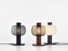 Lampada da tavolo a LED in acciaio inox e vetroBONBORI - BROKIS