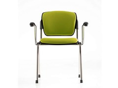 Sedia / sedia da conferenza in tessuto BONN | Sedia da conferenza con braccioli - Bonn