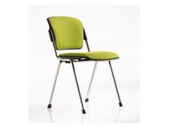 Sedia / sedia da conferenza in tessuto BONN | Sedia da conferenza impilabile - Bonn