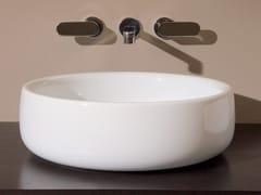 Lavabo da appoggio rotondo singolo in ceramica in stile moderno BONOLA 50 | Lavabo da appoggio - Bonola