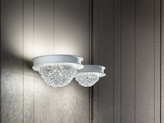 Lampada da parete a LED a luce diretta e indiretta in metallo verniciato BOOL A2 - Bool