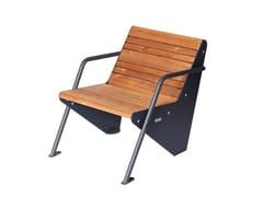 Seduta da esterni in acciaio e legnoBOOMERANG | Seduta da esterni in acciaio e legno - PUNTO DESIGN