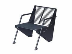 Seduta da esterni in acciaioBOOMERANG | Seduta da esterni in acciaio - PUNTO DESIGN