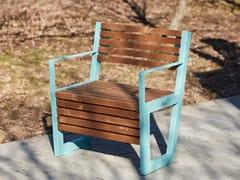 Seduta da esterni in acciaio e legnoBOSTON   Seduta da esterni - PUNTO DESIGN