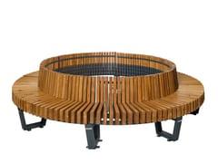 Panchina circolare in acciaio e legnoBOSTON | Panchina circolare - PUNTO DESIGN