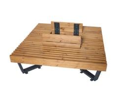 Panchina in acciaio verniciato a polvereBOSTON | Panchina in legno - PUNTO DESIGN