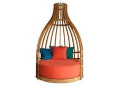 Host & Home, BOTTLE Divano da giardino a igloo in legno
