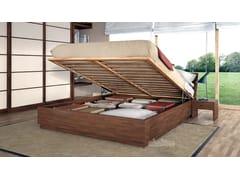 Letto contenitore matrimoniale in legnoBOX - CINIUS