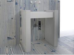 Lavabo rettangolare su colonna BOX | Lavabo su colonna - Box