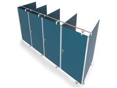 Sistema modulare per box toilet in vetro, HPL e metalloSTUDIO T - GRUPPO P&G