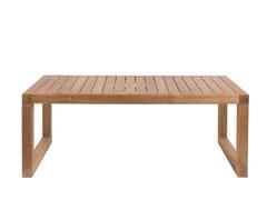 Tavolino basso da giardino rettangolare in teakBOXER   Tavolino basso - IL GIARDINO DI LEGNO