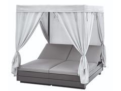 Letto da giardino reclinabile in alluminio a baldacchinoBOXX | Letto da giardino - SOLPURI