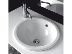Lavabo da incasso soprapiano rotondo in ceramicaBP002-BP003 | Lavabo - BLEU PROVENCE