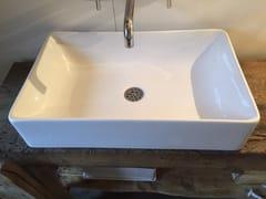 Lavabo da appoggio rettangolare in ceramicaBP025 | Lavabo - BLEU PROVENCE