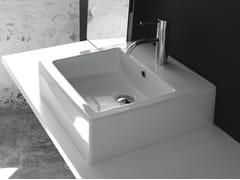 Lavabo da appoggio rettangolare in ceramica con troppopienoBP029 | Lavabo - BLEU PROVENCE