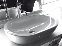 Lavabo da appoggio ovale in ceramicaBP030 | Lavabo - BLEU PROVENCE