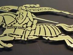 YDF, INSEGNA OTTONE Manufatto artigianale in ferro
