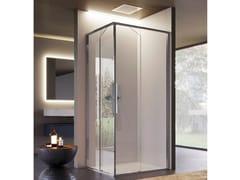 Box doccia angolare in vetro con porta scorrevoleBRAVE 04 - DISENIA