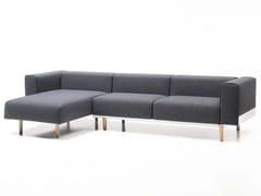 Divano componibile in tessuto a 3 posti con chaise longue BREAD | Divano con chaise longue - Bread
