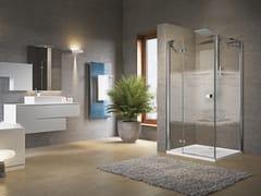 NOVELLINI, BRERA G+F Box doccia angolare con porta a battente e fisso laterale