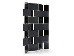 Paravento in acciaio e legnoBRICK SCREEN - CLASSICON