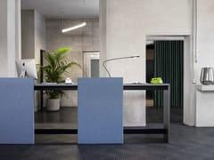 Banco reception per ufficio con pannelli acusticiBRIDGE | Banco reception per ufficio - CITTERIO