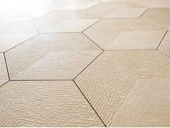 Lithos Mosaico Italia, BRIGHT HEXAGON Pavimento/rivestimento in pietra di Trani