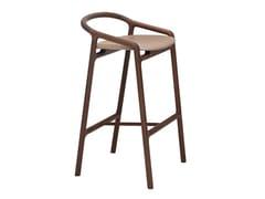 Sgabello da bar imbottito in legno masselloBRIONI | Sgabello da bar - WOAK