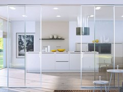 Metalglas Bonomi, BRIXIA INVISIBILE OPTIONAL SOFT CLOSE Kit per porta scorrevole in metallo